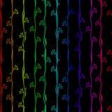 Bezszwowej Deseniowej tęczy pionowo lampasy Zdjęcia Royalty Free