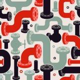 Bezszwowej drymby elementów wzór ilustracyjny nowożytny wektor Zdjęcia Royalty Free