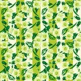 Bezszwowej kwiecistej deseniowej tekstury pasiasty tło Obrazy Royalty Free