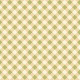 Bezszwowej pistaci zieleni tkaniny wzoru tła W kratkę tekstura ilustracji