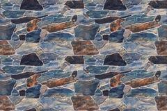Bezszwowej tekstury kamienna ściana Fotografia Stock