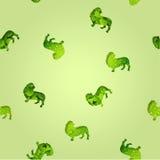 Bezszwowej tekstury zieleni baseta ogara kwiecisty pies Obraz Royalty Free