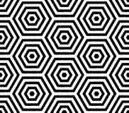 Bezszwowej zabawy siatki tapety heksagonalny wzór royalty ilustracja