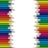 bezszwowi barwioni ołówki ilustracji