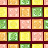 Bezszwowi cytrusy w kwadratach royalty ilustracja