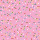 Bezszwowi deseniowi jaskrawi smakowici wektorowi donuts kropią tło Pączka tło w kreskówka stylu Fotografia Royalty Free