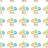 Bezszwowi deseniowi kolorowi curlicues Fotografia Stock