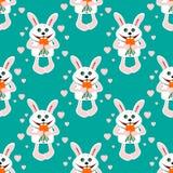 bezszwowi deseniowi króliki Zdjęcie Royalty Free