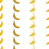 Bezszwowi deseniowi tło banany Zdjęcie Royalty Free