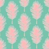 Bezszwowi deseniowi tropikalni liście Obraz Royalty Free