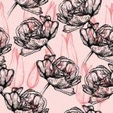 Bezszwowi deseniowi tulipany Obrazy Royalty Free