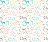 Bezszwowi eyeglasses wzory, eyeglasses Fotografia Stock