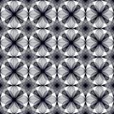 Bezszwowi geometryczni kwiaty Zdjęcia Royalty Free