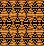 Bezszwowi geometryczni trójboki i diamentu wzór Obrazy Royalty Free