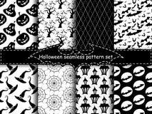 Bezszwowi Halloween tła Zdjęcie Stock