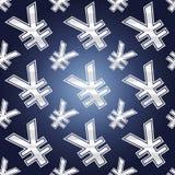 Bezszwowi jenów symbole Zdjęcia Stock
