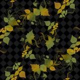 Bezszwowi jesień liście Obrazy Stock