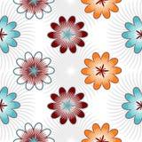 Bezszwowi kolorów kwiaty odizolowywający na białym tle Zdjęcia Royalty Free