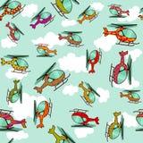 Bezszwowi kolorowi helikoptery Fotografia Royalty Free