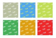 Bezszwowi kolorowi jaskrawi tła z zebrami Obraz Royalty Free