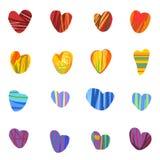 bezszwowi kolorowi tło serca Fotografia Stock