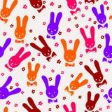 Bezszwowi króliki Obraz Stock