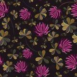 Bezszwowi kwiatu shamrock liście. ilustracja wektor