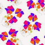 Bezszwowi kwiaty Obraz Royalty Free