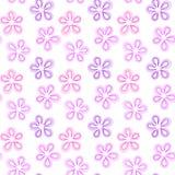 Bezszwowi menchii i purpur kwiaty ilustracji