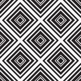 Bezszwowi monochromatyczni ornamentów kwadraty Zdjęcia Royalty Free