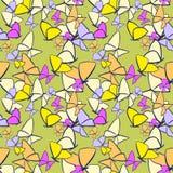 Bezszwowi motyle Zdjęcia Stock