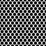 Bezszwowi okręgi, kropka wzór Płynnie powtarzalna polki kropka ilustracji