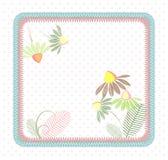Bezszwowi patchworku kwadrata pastelu kwiaty Zdjęcie Stock