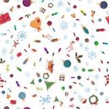 Bezszwowi pattern_7_for boże narodzenia i nowy rok tematu w stylu ilustracji