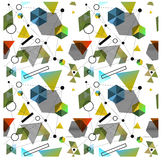 Bezszwowi pierwotni geometryczni wzory minimalizm Obrazy Stock