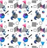 Bezszwowi pierwotni geometryczni wzory minimalizm Obraz Royalty Free