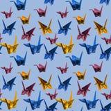 Bezszwowi powtórki Origami papieru żurawie - fotografia royalty ilustracja