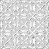 Bezszwowi rżnięci 387 3D białego papieru sztuki tła round krzywy krzyża elegancka geometria Ilustracja Wektor