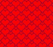 Bezszwowi serca Obraz Stock