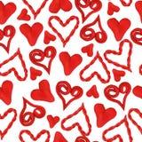 Bezszwowi serca plastelina Zdjęcie Stock