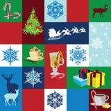 Bezszwowi tła Bożych Narodzeń wakacje Zdjęcia Stock