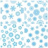 bezszwowi tło płatek śniegu ilustracja wektor