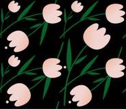 bezszwowi tło tulipany ilustracja wektor