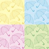Bezszwowi tekstura parasole Zdjęcia Royalty Free