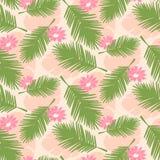 Bezszwowi tropikalni palma liście Zdjęcie Stock