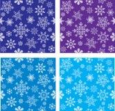 bezszwowi ustaleni płatek śniegu Zdjęcie Stock