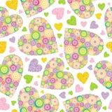 bezszwowi valentines tło Zdjęcie Royalty Free