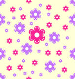 Bezszwowi wzór purpur i menchii kwiatu kształty Zdjęcia Royalty Free