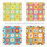 Bezszwowi wzory w jaskrawych kolorach royalty ilustracja