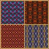 Bezszwowi wzory w orientalnym stylu Zdjęcie Stock